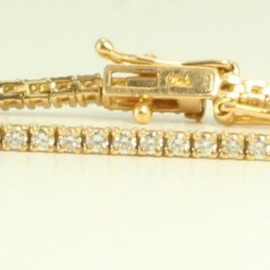 18K Gold Diamond Tennis Bracelet 1.48 Ct C11000139